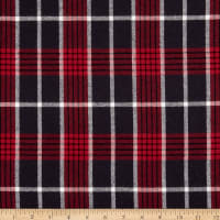 Plaid Flannel PLD-216 Red/Charcoal