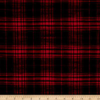 Plaid Flannel PLD-292 Red/Black