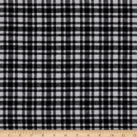 Plaid Flannel PLD-515 White/Black