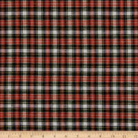 Plaid Flannel PLD-56 Orange