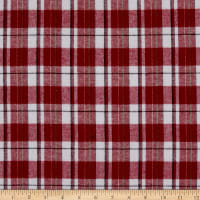 Plaid Flannel PLD-58 Red/White