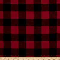 Plaid Flannel PLD-8-15 Red/Black