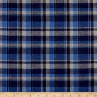 Plaid Flannel PLD-915 Navy/Royal