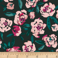 Art Gallery Foresta Fusion Fields of Foresta Black/Pink/Teal