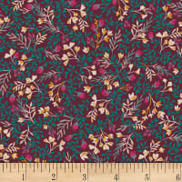 Art Gallery Foresta Fusion Floral No. 9 Foresta Red/Teal/Pink