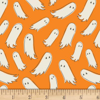 Art Gallery Spooky 'n Sweet Pick-A-Boo Orange/White