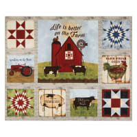 "3 Wishes On the Farm Barn 36"" Panel Multi"