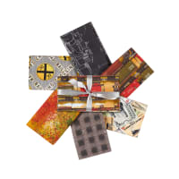 3 Wishes Autumn Steam Fat Quarter Bundle 6pcs Multi