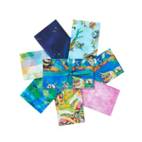 3 Wishes Go Owl Out Fat Quarter Bundle 7 Pcs. Multi