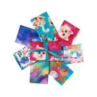 3 Wishes Digital Good Kitty Fat Quarter Bundle 7Pcs Multi