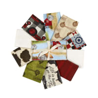 3 Wishes On The Farm Fat Quarter Bundle 10Pcs Multi