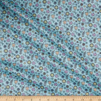 Polyurethane Laminate-GA522-C Flower Face Blue