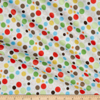 Polyurethane Laminate-LS179-J Multi Dot White