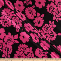 Milly Designer Mikado French Floral Pink/Black