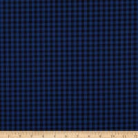 Check Plaid Shirting Royal Blue/Black