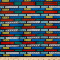 E.Z. Fabric Exclusive Minky Road Blocks  Multi