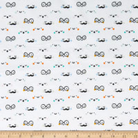 E.Z. Fabric Exclusive Minky Number Faces White