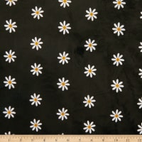 E.Z. Fabric Exclusive Minky Itsy Daisy Black/White