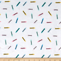 E.Z. Fabric Exclusive Minky Crayons White