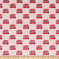 E.Z. Fabric Exclusive Minky London Bus Red