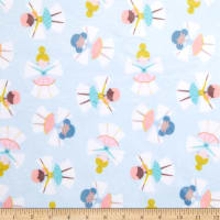 E.Z. Fabric Exclusive Minky Snow Angel Light Blue