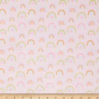 E.Z. Fabric Exclusive Minky Dancing Rainbows Pink