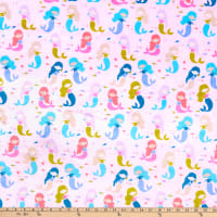 E.Z. Fabric Exclusive Minky Mermaid Club Pink