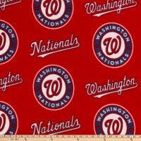 MLB Fleece Washington Nationals Red