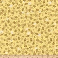 Stoffabric Denmark Magic Christmas Cones Beige Gold