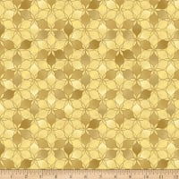 Stoffabric Denmark Magic Christmas Poinsettia Beige Gold