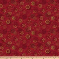 Stoffabric Denmark Magic Christmas Christmas Balls Red Gold