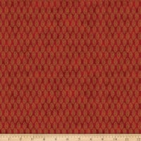 Stoffabric Denmark Magic Christmas Spruce Branch Red Gold
