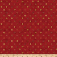 Stoffabric Denmark Magic Christmas Small Poinsettia Gold