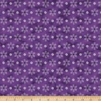 Stoffabric Denmark Magic Christmas Branches & Flowers Purple Silver