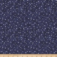 Stoffabric Denmark Magic Christmas Dots Blue Silver