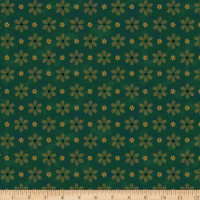 Stoffabric Denmark Magic Christmas Spruce Branch Green Gold