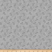Stoffabric Denmark Magic Christmas Holly Grey Silver