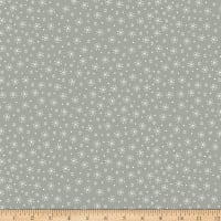 Stoffabric Denmark Little Christmas Eve White Snowflakes Grey