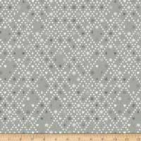 Stoffabric Denmark Little Christmas Eve Christmas Motifs Dotted White Lines Grey