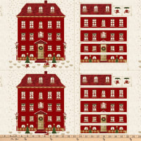 "Stoffabric Denmark Magic Christmas Christmas Calendar 24"" Panel Red"