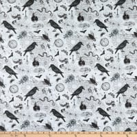 Northcott Wicked Wicked Toile Light Grey