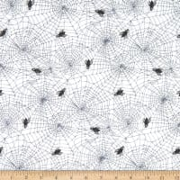 Northcott Wicked Spider Web White