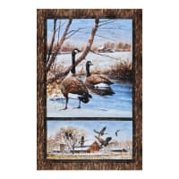 "Northcott Take A Gander Geese Border 28"" Brown Multi"
