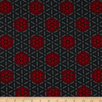 Henry Glass Moroccan Red Medallion Black/Red