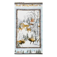 "Henry Glass Snowy Woods 24"" Scenic Panel Multi"