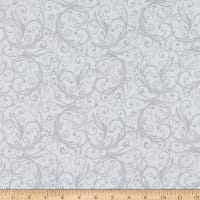 Henry Glass Flannel Winter Frost Swirl White