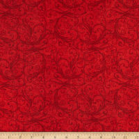 Henry Glass Flannel Winter Frost Swirl Red