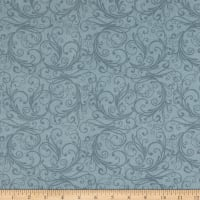 Henry Glass Flannel Winter Frost Swirl Gray