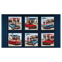 "American Muscle 10"" Blocks 24"" Panel Patriotic"