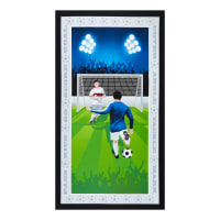 "Born To Score Free Kick Boy Banner 24"" Panel Royal"